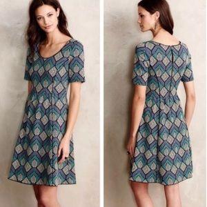ANTHRO HD in Paris Hollyhock fit & flare dress, M